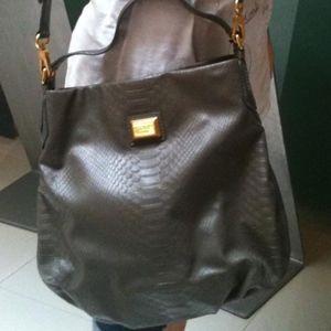 MARC BY MARC JACOBS embossed hobo handbag